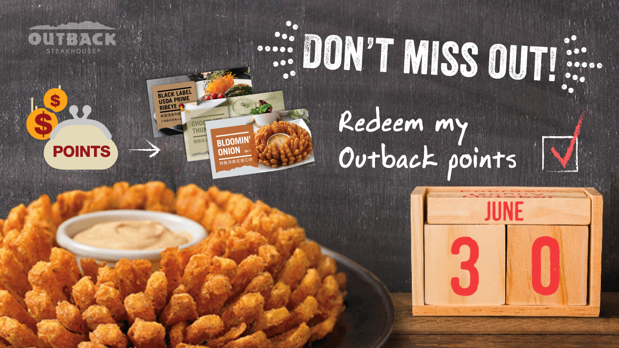 It's time to spend your Outback points!